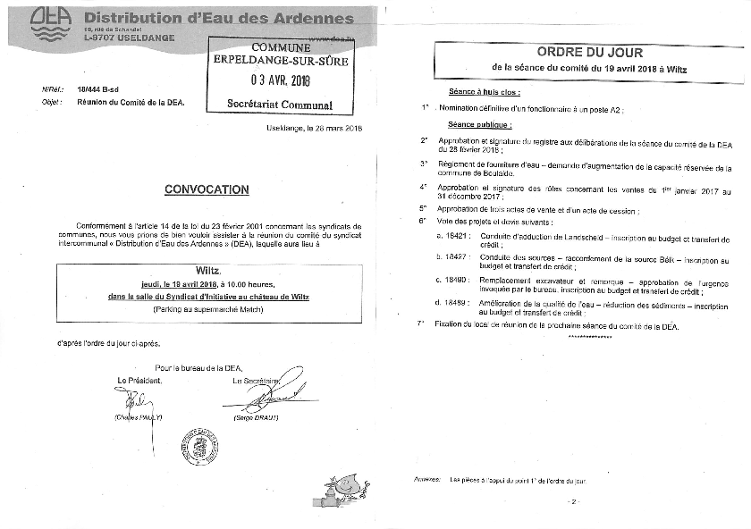 20180411 Syndicat DEA information comité