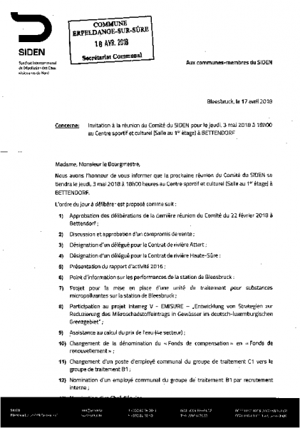 20180418 Syndicat Siden information comité
