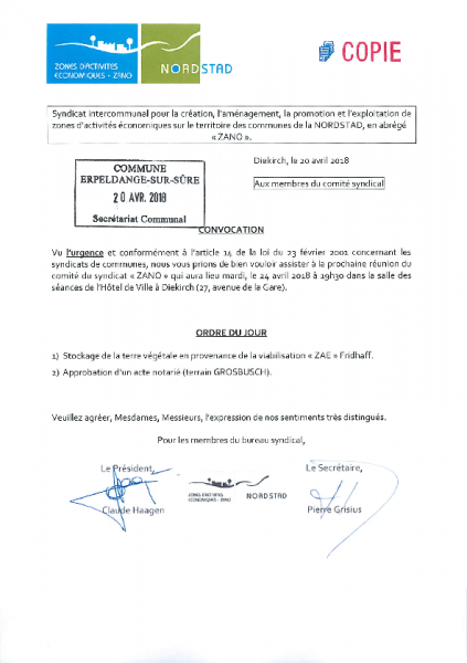 20180423 Syndicat Zano information comité