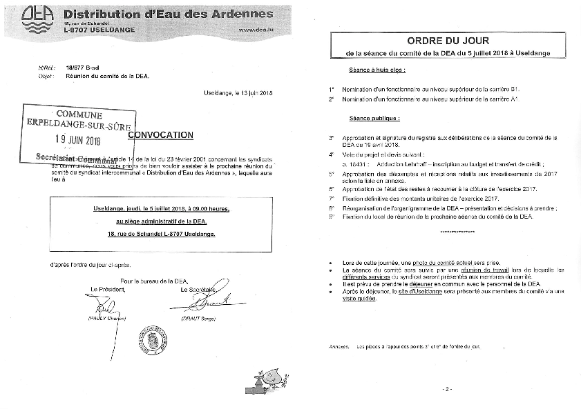 20180620 Syndicat DEA information comité