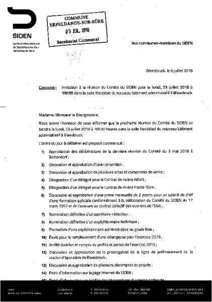 20180711 Syndicat Siden information comité