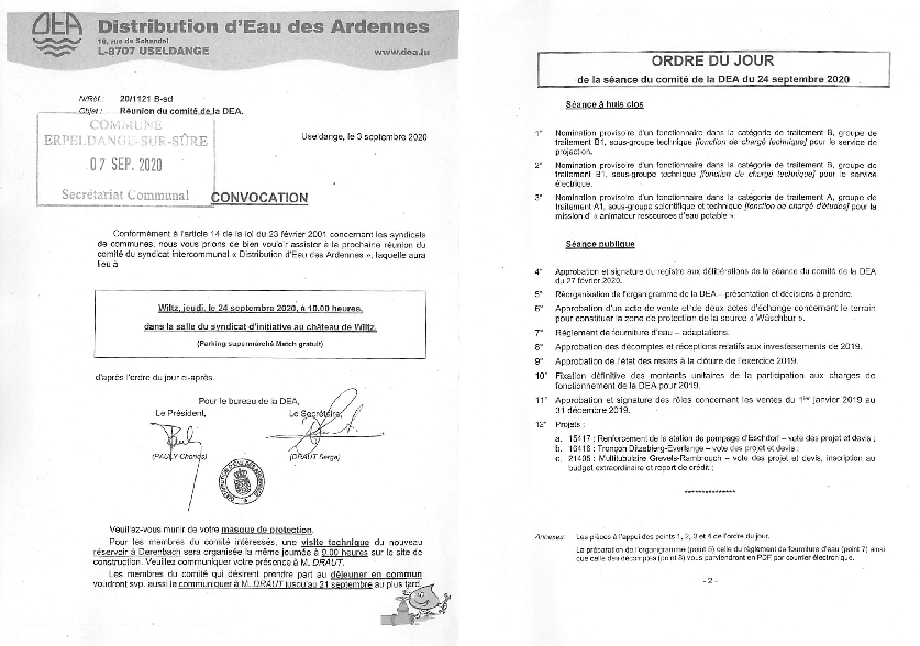 20200909 Syndicat DEA information comité